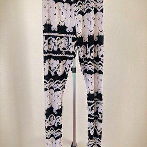 The Vintage Shop Black/White Pattern Thin Legging